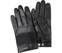 Herren Handschuhe, Lammleder, schwarz