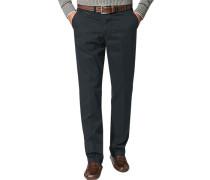 Herren Hose Chino, Modern Fit, Baumwolle, marine blau