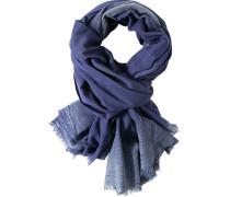 Herren Schal, Baumwolle, dunkelblau gemustert