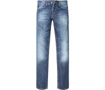 Herren Jeans Regular Cut Baumwolle blau