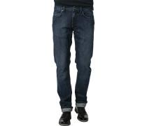Herren Jeans, Regular Fit, Baumwoll-Stretch, denim blau
