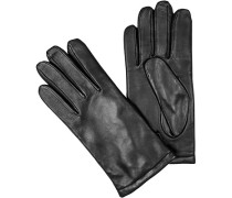 Herren Handschuhe, Leder, schwarz