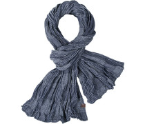Herren Schal, Baumwolle, blau gemustert