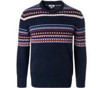 Pullover Wolle multicolour gemustert