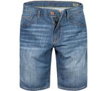 Herren Jeansshorts Baumwoll-Stretch jeansblau