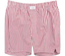 Herren Unterwäsche Boxershorts, Baumwolle, rot gestreift