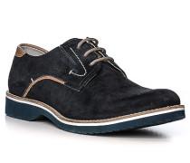 Schuhe Derby Veloursleder nacht