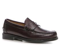 Herren Schuhe Loafer Leder bordeaux rot