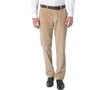 Herren Cordhose Parma, Contemporary Fit, Baumwolle, beige