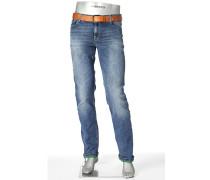 Herren Jeans Regular Slim Fit Baumwoll-Stretch 9 oz