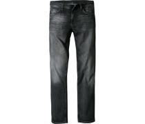 Herren Jeans Regular Fit Baumwoll-Stretch anthrazit grau