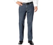 Herren Jeans, Baumwoll-Stretch, mittelblau