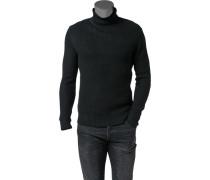 Herren Pullover Merinowolle schwarz