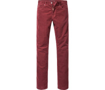 Herren Cordjeans Regular Cut Baumwoll-Stretch rost rot