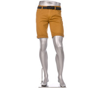 Hose Bermudashorts Pipe, Regular Slim Fit, Baumwolle