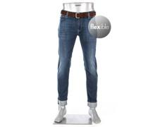 Jeans Bike, Slim Fit, Baumwoll-Stretch wasserabweisend 10oz