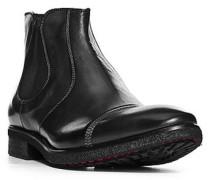 Herren Schuhe Chelsea Boots Leder schwarz grau