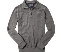 Herren Sweatshirt Baumwolle grau meliert