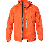 Herren Regenjacke, Regular Fit, Microfaser wasserabweisend, orange