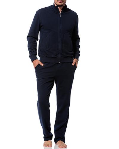 Herren Hausanzug Baumwolle marine blau