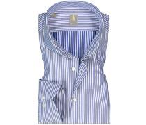 Hemd Custom Fit Baumwolle -weiß gestreift