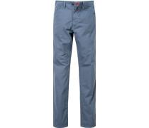 Herren Jeans Regular Fit Baumwoll-Stretch graublau meliert