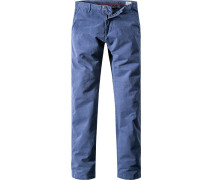 Herren Hose Chino Regular Fit Baumwoll-Stretch dunkel