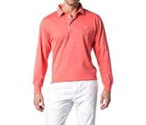 Herren Polo-Shirt Baumwolle koralle rot