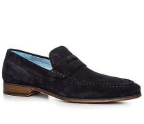Herren Schuhe Loafer Veloursleder navy blau