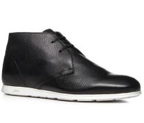 Herren Schuhe Desert Boots Leder schwarz