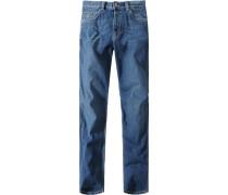 Herren Jeans Nevada, Denimstretch, Mittelblau