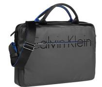 Herren Laptoptasche, Kunststoff, schwarz