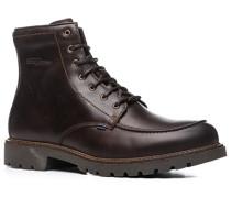 Herren Schuhe Schnürstiefeletten Glattleder GORE-TEX® kaffeebraun braun,braun