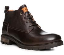 Herren Schuhe Stiefelette, Leder warm gefüttert, braun