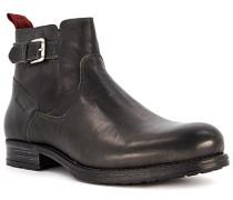 Schuhe Chelsea-Boots Leder dunkel