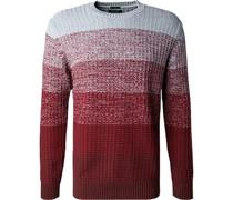 Pullover Modern Fit Baumwolle wein meliert