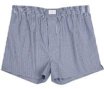 Herren Unterwäsche Boxer-Shorts Popeline -weiß kariert