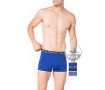 Herren Unterwäsche Trunks Baumwolle blau