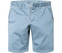 Herren Shorts Modern Fit Baumwoll-Stretch jeans gemustert