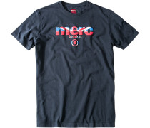 Herren T-Shirt, Baumwolle, marineblau