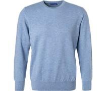 Pullover Reines Kaschmir bleu