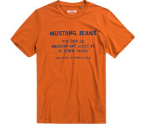 Herren T-Shirt Baumwolle orange