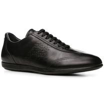 Herren Schuhe Sneaker, Leder, schwarz