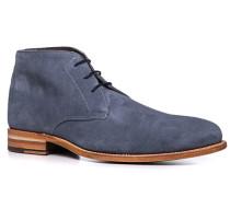 Herren Schuhe Stiefeletten Kalbveloursleder denim blau,braun