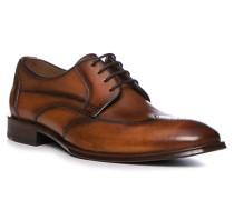 Schuhe Derby Lasko Kalbleder cognac