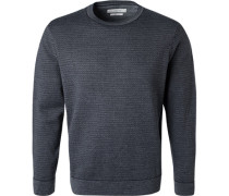 Pullover Wolle anthrazit meliert