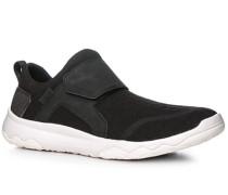 Herren Schuhe Slip On Textil schwarz schwarz,grau
