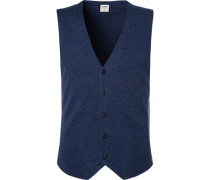 Pullover Strickweste, Body Fit, Merinowolle-Seide