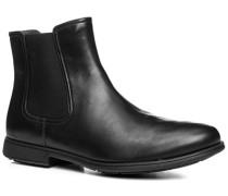 Herren Schuhe Chelsea-Boots Glattleder schwarz