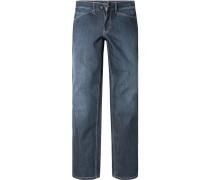 Herren Jeans Slim Fit Baumwoll-Stretch navy